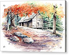 Acrylic Print featuring the painting Ogle Farmhouse by Bob  George