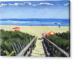 Ogunquit Footbridge Beach Ogunquit Maine Acrylic Print