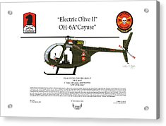 Oh-6a Electric Olive II Loach Acrylic Print
