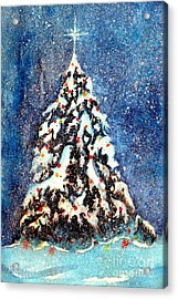 Oh Christmas Tree Acrylic Print by Janine Riley