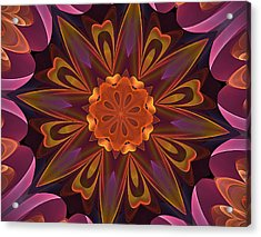 Oh La La Kaleidoscope Acrylic Print