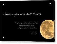 Oh Moon Acrylic Print by Diana Angstadt
