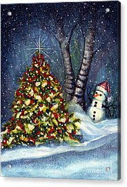 Oh My. A Christmas Tree Acrylic Print by Janine Riley