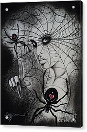 Oh What Tangled Webs We Weave Acrylic Print by Carla Carson