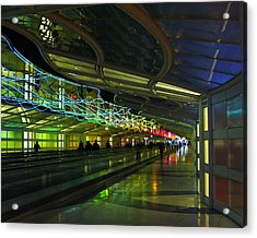 Acrylic Print featuring the photograph O'hare Color by Rhonda McDougall
