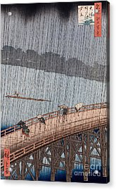 Ohashi Sudden Shower At Atake Acrylic Print by Ando Hiroshige