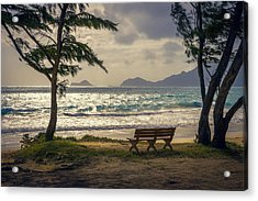 Acrylic Print featuring the photograph Oahu Sunrise by Steven Sparks