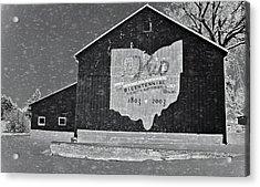 Ohio Barn In Winter Acrylic Print by Dan Sproul