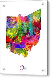 Ohio Map Acrylic Print