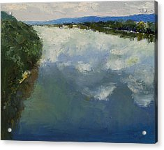 Ohio River Painting Acrylic Print by Michael Creese