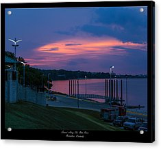 Ohio River Sunset Acrylic Print by David Lester