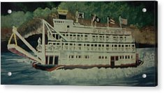 Acrylic Print featuring the painting Ohio Riverboat by Christy Saunders Church