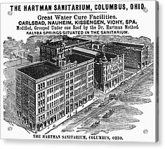 Ohio: Sanitarium, 1901 Acrylic Print by Granger