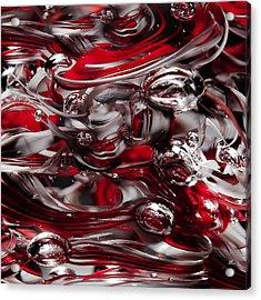 Ohio State Buckeyes Abstract Acrylic Print