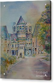 Acrylic Print featuring the painting Ohio State Reformatory by Mary Haley-Rocks