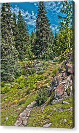 Ohme Gardens Acrylic Print by Sonya Lang