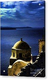 Oia Greece Acrylic Print by Tom Prendergast
