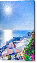 Oia Santorini Grk4178 Acrylic Print