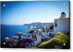 Oia Santorini Grk4332 Acrylic Print