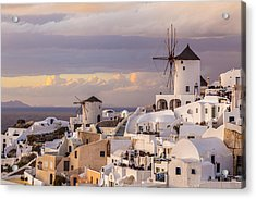 Oia Windmill Acrylic Print