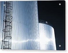 Oil And Gas Refinery Acrylic Print by Christian Lagereek