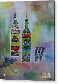 Oil And Vinegar Acrylic Print by PainterArtist FIN