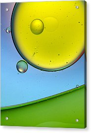 Oil And Water 26 Acrylic Print by Rebecca Cozart
