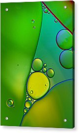 Oil And Water 9 Acrylic Print by Rebecca Cozart