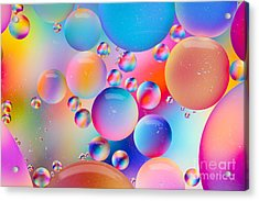 Oil And Water Acrylic Print by Dawna  Moore Photography