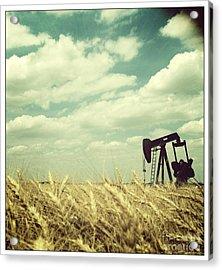 Oil Boom Acrylic Print by Becky Gossett