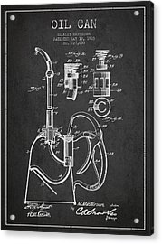 Oil Can Patent From 1903 - Dark Acrylic Print by Aged Pixel