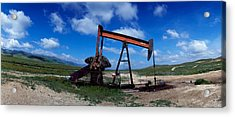 Oil Drill On A Landscape, Taft, Kern Acrylic Print by Panoramic Images