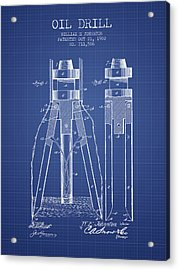 Oil Drill Patent From 1902 - Blueprint Acrylic Print