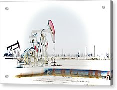 Acrylic Print featuring the photograph Oil Field by Joel Loftus