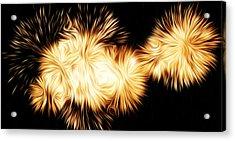Oil Fireworks Acrylic Print by Stefan Petrovici