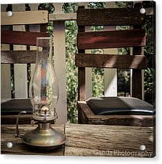 Acrylic Print featuring the digital art Oil Lamp 2 by Gandz Photography