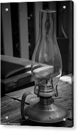 Acrylic Print featuring the digital art Oil Lamp by Gandz Photography