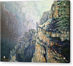 Oil Painting - Majestic Canyon Acrylic Print by Roena King