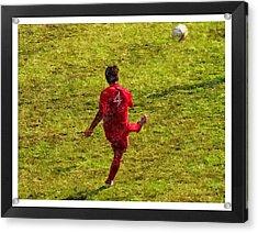 Oil Painting Of Soccer Player Acrylic Print by John Vito Figorito