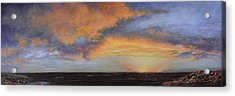 Oil Painting When The Sky Turns Color Acrylic Print