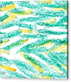 Oil Pastel. Seamless Pattern Acrylic Print