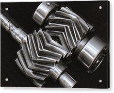 Oil Pump Gears Acrylic Print by Daniel Hagerman