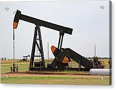 Oil Pump Acrylic Print by Jim Edds/science Photo Library