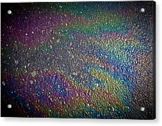 Oil Rainbow Acrylic Print