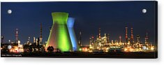 Oil Refineries Panoramic View Acrylic Print by Isaac Silman