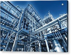 Oil Refinery And Pipelines Construction Acrylic Print