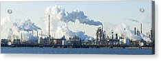 Oil Refinery At The Waterfront Acrylic Print