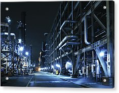 Oil Refinery, Chemical & Petrochemical Acrylic Print by Zorazhuang