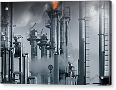 Oil Refinery Power And Energy Acrylic Print