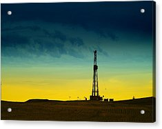 Oil Rig In The Spring Acrylic Print